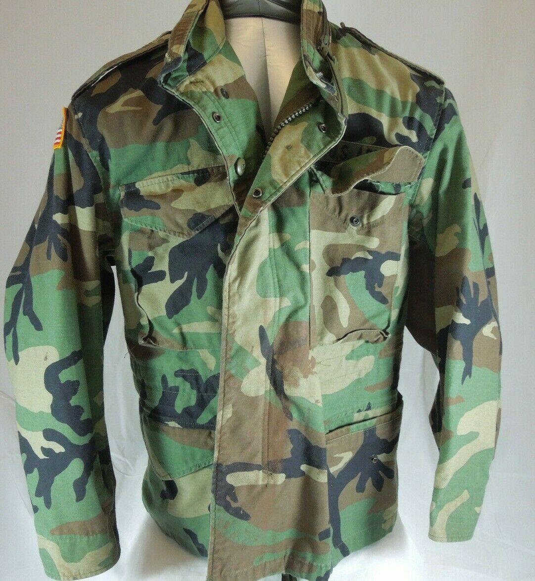 8727d2f09c902 S l1600. S l1600. Previous. US ARMY CAMO JACKET Vntg Mens Green Camouflage  Field Fatigue Medium Extra Short
