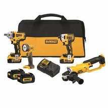 DEWALT 20V MAX* 4-Tool Combo Kit with 4 20 V MAX* Lithium Ion Battery Packs - $829.00