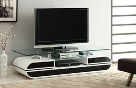 White Entertainment Center TV Stand for Flat Screens 60 Solid Wood Large... - $564.25