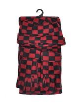 Women's Polyester Fleece Checkered 3-Piece gloves scarf Hat Winter Set W... - $17.99