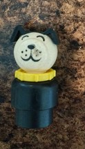 Vintage Little People Dog with Yellow Collar Plastic Fisher Price - $6.58