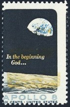 1371, Huge Color Shift ERROR 6¢ Apollo 8 Space Stamp MNH - Stuart Katz - $75.00