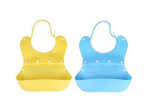 Fashionable Waterproof Comfy Baby Bib/Pinafore for Baby(Yellow+Blue)