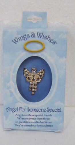 DM Merchandising Wings Wishes Angel Someone Special  Gold Colored Angel