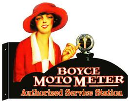 Boyce Moto Meter Laser Cut Out Metal Sign 18x23.5 - $50.49