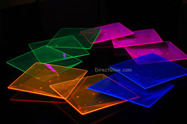 Blacklight Reactive 6.5 Inch Square Twist Plastic Party Plates- 10 ct. - $8.95