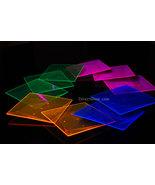 Blacklight Reactive 6.5 Inch Square Twist Plastic Party Plates- 10 ct. - $8.95