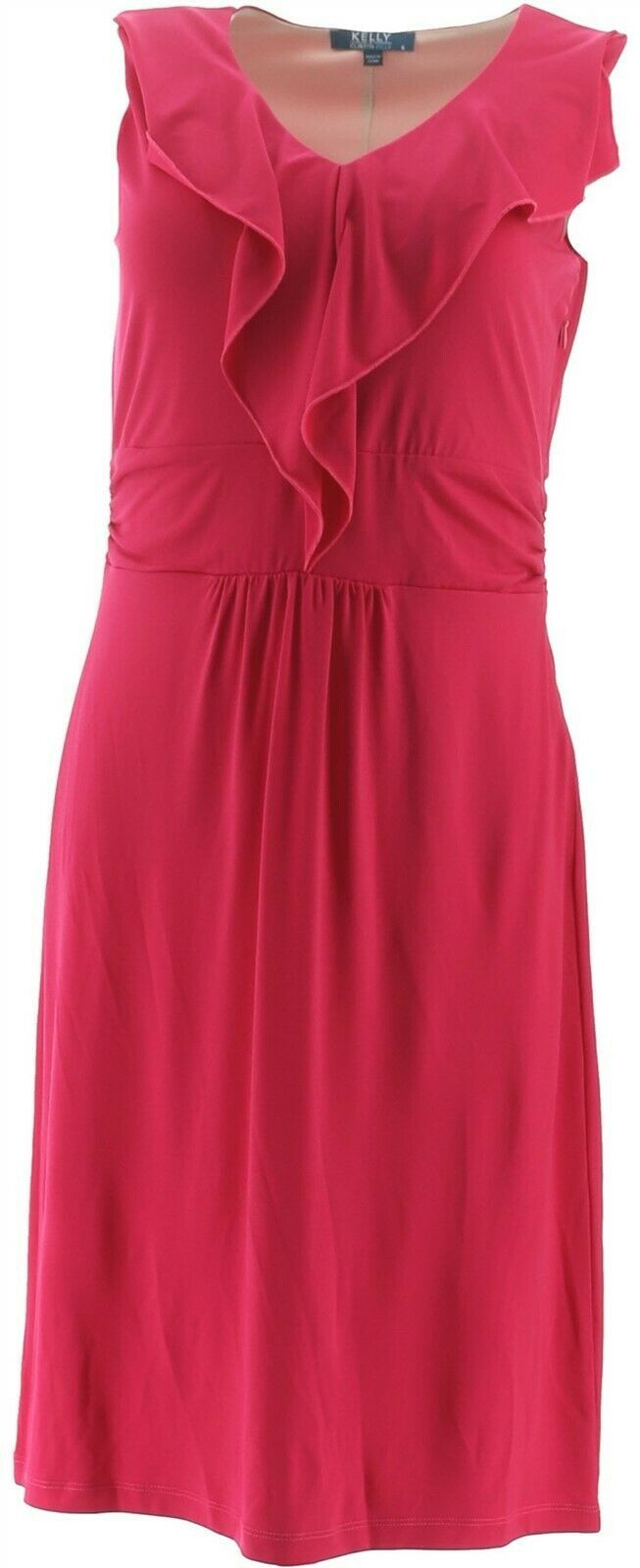 Primary image for Kelly Clinton Kelly Slvless Dress Ruffle Raspberry 14 NEW A266479