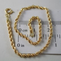 18K YELLOW GOLD BRACELET, BRAID ROPE LINK, 7.30 INCH LONG, MADE IN ITALY - $156.00
