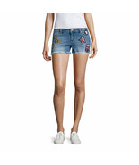 Blue Spice Patched Fray Hem Shorts Juniors Sizes 5, 7, 9 New    - $16.99
