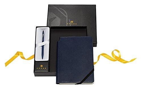 Cross Click Black Lacquer Ballpoint Pen & Midnight Blue Journal