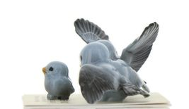 Hagen Renaker Miniature Bluebird Family Ceramic Figurine Set of 3 image 4