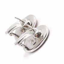 Boucles D'Oreilles or Blanc 750 18K, Camée Sculpté Ovale, Visage Femme, Clips image 4