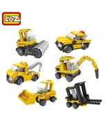6in1 LOZ Mini Engineering Vehicle Building Blocks - $21.95