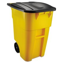 Rubbermaid Commercial 9W27YEL BRUTE Heavy-Duty Rollout Waste/Utility Con... - $147.63