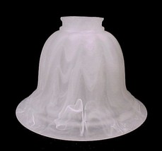 Frosted White Swirl Light Shade 2 1/4 X 5 X 7 Ceiling Fan Chandelier Wall Sconce - $10.95