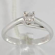 White Gold Ring 750 18K, Solitaire, Stems to Crown, Diamond, Carat 0.11 image 1