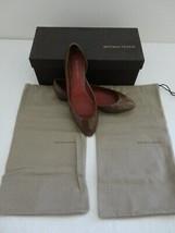 NIB BOTTEGA VENETA Chene Patent Leather Scarpa Pelle Shoes Flats 36C/6C - $266.74