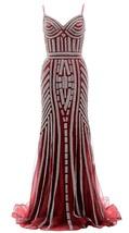 Spaghetti Strap Beaded Jersey Long Prom Dress Mermaid V-Neck Formal Even... - $189.99