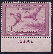 """RW5 - $1 F-VF """"Pintail & Hen"""" Scarce Pl# 138602 Single Duck Stamp Mint H - $199.99"""