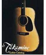 ORIGINAL Vintage 1976 Takamine Guitar Catalog - $55.91