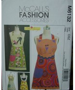 Sewing Pattern 6132 Appliqued Aprons, Cat, High Heel, Coffee Cup & Hen - $4.99