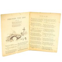 Hector the Dog Snowflake Series Illustrated Book Copyright 1889 image 3