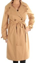 Tommy Hilfiger Women's Double Breasted Belted Trench Coat, Caramel Beige, Medium - $69.00