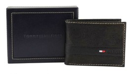Tommy Hilfiger Men's Leather Credit Card Id Wallet Billfold Black 31TL22X023 image 2