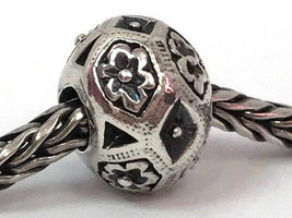 Authentic Trollbeads Sterling Silver Zanzibar Bead Charm 11302, New - $38.01