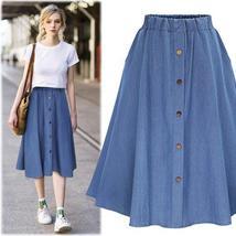 Summer Jeans Skirt Women High Waist  Denim Skirts Female Mini Saia Plus Size Fal