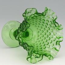 Vintage Fenton Art Glass Springtime Green (1977) Hobnail Footed Comport image 2