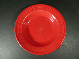 """FIESTAWARE Homer Laughlin SCARLET Rimmed Soup or Salad Bowl 9"""" - $16.00"""