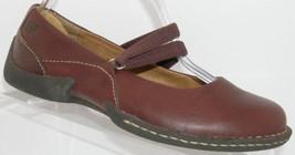 Born 'Bittersweet' burgundy leather round toe elastic mary jane flats 7 EU 38 - $31.47