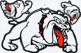 D093 Bulldog dog Sticker Decal Racing Tuning Size 27x18 cm / 10x7 inch - $3.49