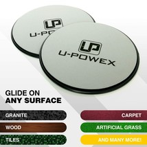 UPOWEX Exercise Sliders  Dual Sided Core Sliders – Work Smoothly on Any Surface. image 3