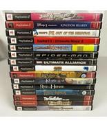 Ps2 Playstation 2 Video Game Lot 15 Game Bundle Disney Marvel Kessen Tested - $79.99