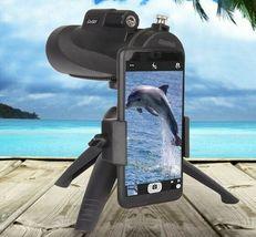 12X50 High Power Prism Monocular Scope, Smartphone Holder, & Handheld Tripod Kit image 7