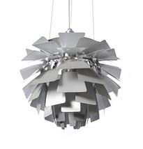 "Decomust Aluminum 24"" PH Artichoke Pendant Chanderlier Lamp Light Silver - $564.18"