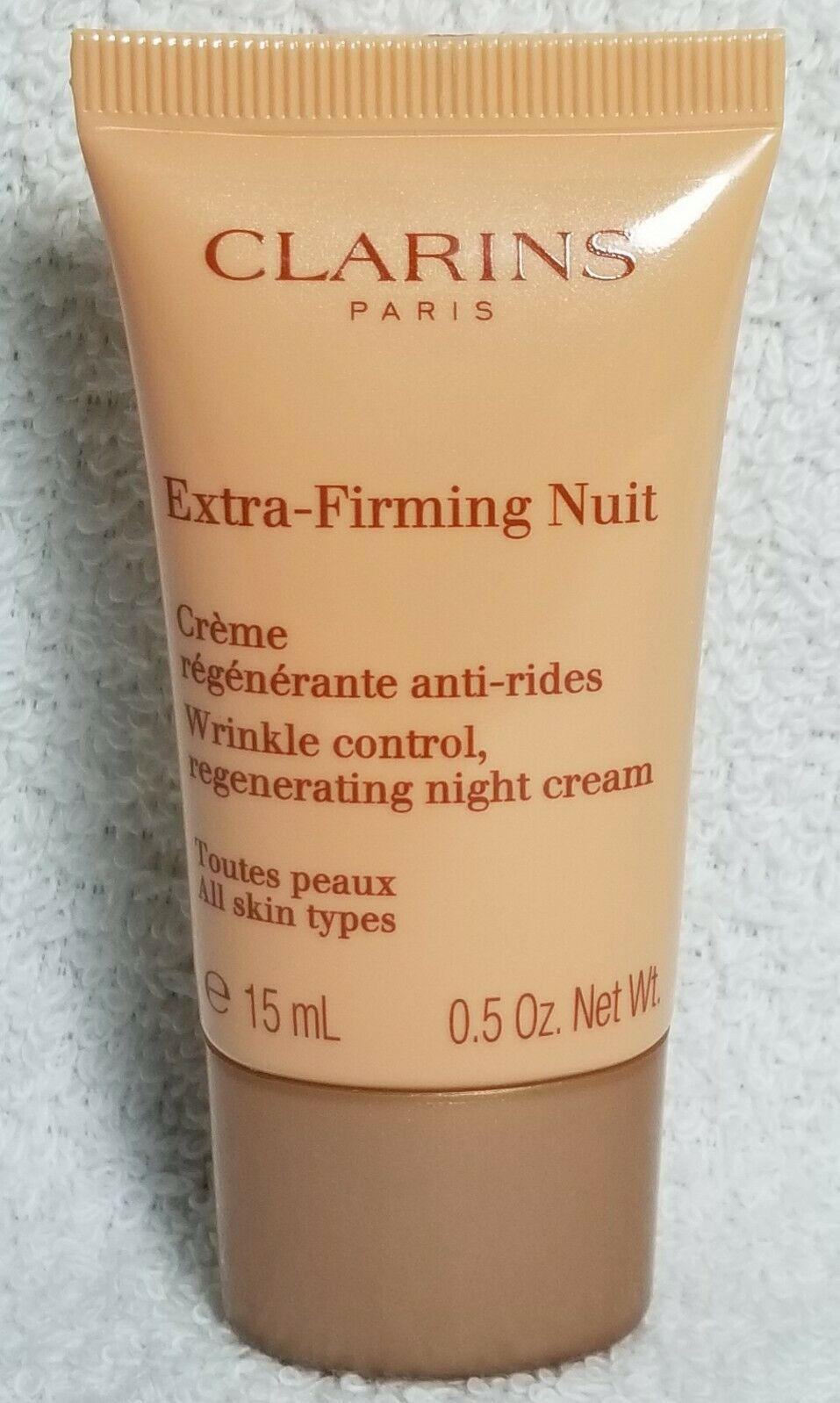 Primary image for Clarins EXTRA-FIRMING NUIT Regenerating Night Cream Wrinkle Tube .5 oz/15mL New