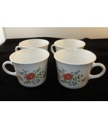 Vintage Corning ware/Corelle Wildflower Flat Cups Set Of 4 - $18.69