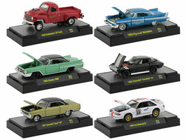 AUTO MEETS 6 CARS SET, RELEASE 52 IN CASES 1/64 DIECAST BY M2 MACHINES 3... - $44.99
