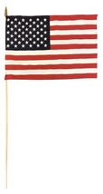 "USA - 12""x18"" Stick Flag (Hemmed, 30"" Staff) - $6.60"