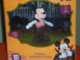 New Disney Halloween 5 Ft Vampire Mickey Mouse Inflatable - $63.18 CAD