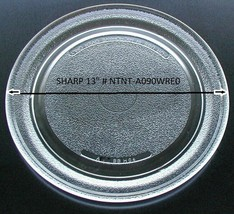 "13"" Sharp Microwave Glass Turntable NTNT-A090WRE0 Track 9 3/4 Clean  - $69.29"