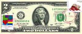MONEY US $2 DOLLARS 2013 STAMP CHICAGO CANCEL LOVE PETS HERMIT CRABS GEM... - $74.88