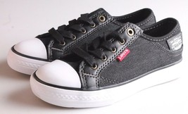 NEW Levi's Kids Boys Girls Stan Buck C Black Denim Sneakers Gym Shoes NIB image 1