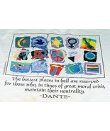 """""""Hottest places in hell..."""" Dante quote t-shirt, 2XL, made in USA, 100% ... - $7.89"""