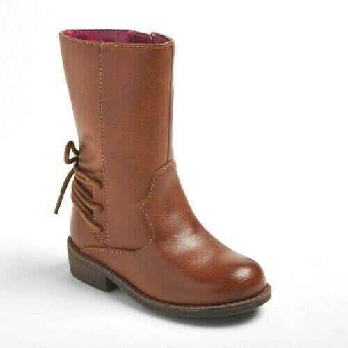 Cat & Jack Toddler Girls Jaydeen Western Riding Fashion Boots - Cognac NWT