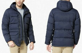 DOCKERS RDS Men's Responsible Down Parka Insulated Hooded Jacket Blue Sz... - $98.99